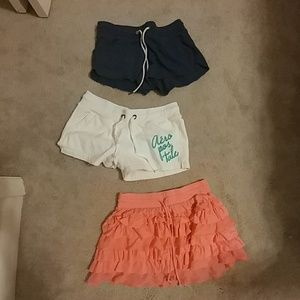 Shorts and Skirt Trio